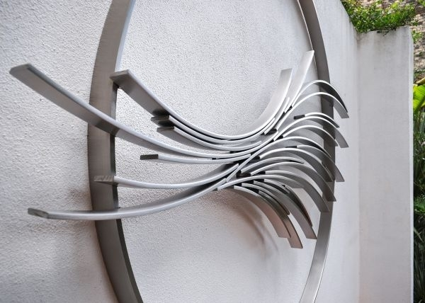 Stainless Steel Fabricated Metal Abstract #sculpture#sculptor Regarding Abstract Garden Wall Art (View 13 of 15)