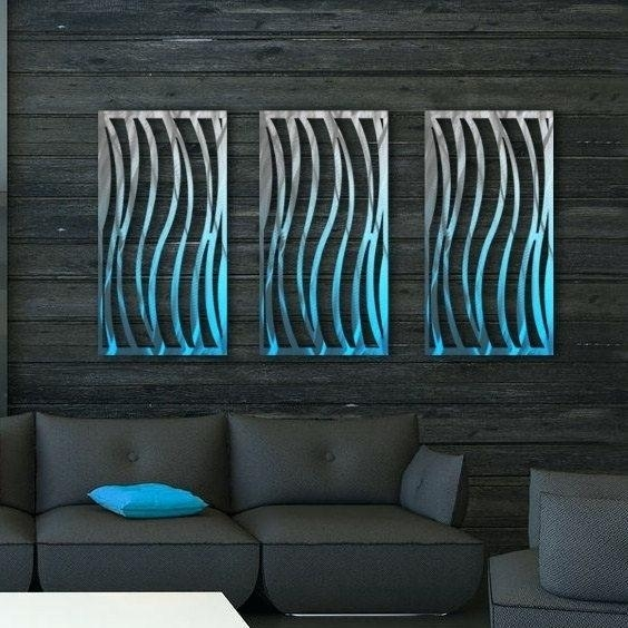 Stainless Steel Outdoor Wall Art Modern Abstract Stainless Steel Regarding Abstract Outdoor Wall Art (Image 9 of 15)