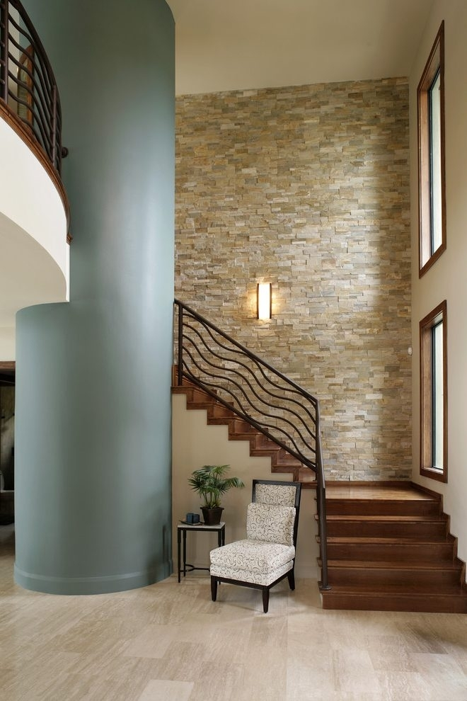 Staircase Decorating Ideas Wall Staircase Traditional With Art In Staircase Wall Accents (Image 8 of 15)