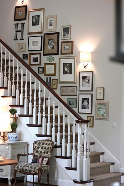 Staircase Wall Decorating Ideas – Eclectic – Staircase – Other Within Staircase Wall Accents (Image 10 of 15)