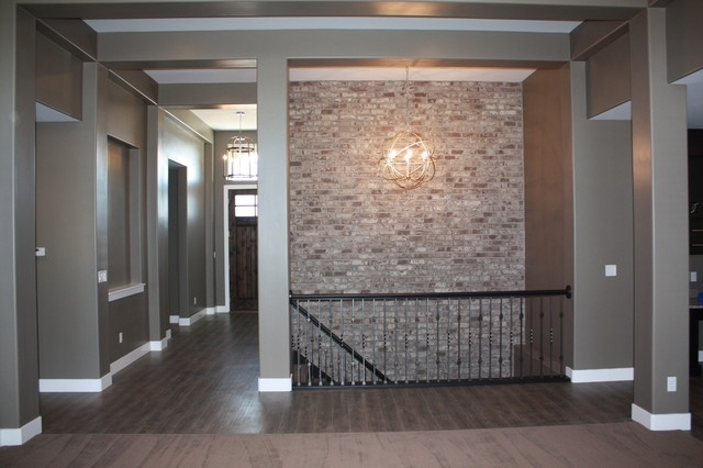 Stairwell Accent Brick Wall – Traditional – Staircase – Salt Lake With Regard To Brick Wall Accents (View 14 of 15)