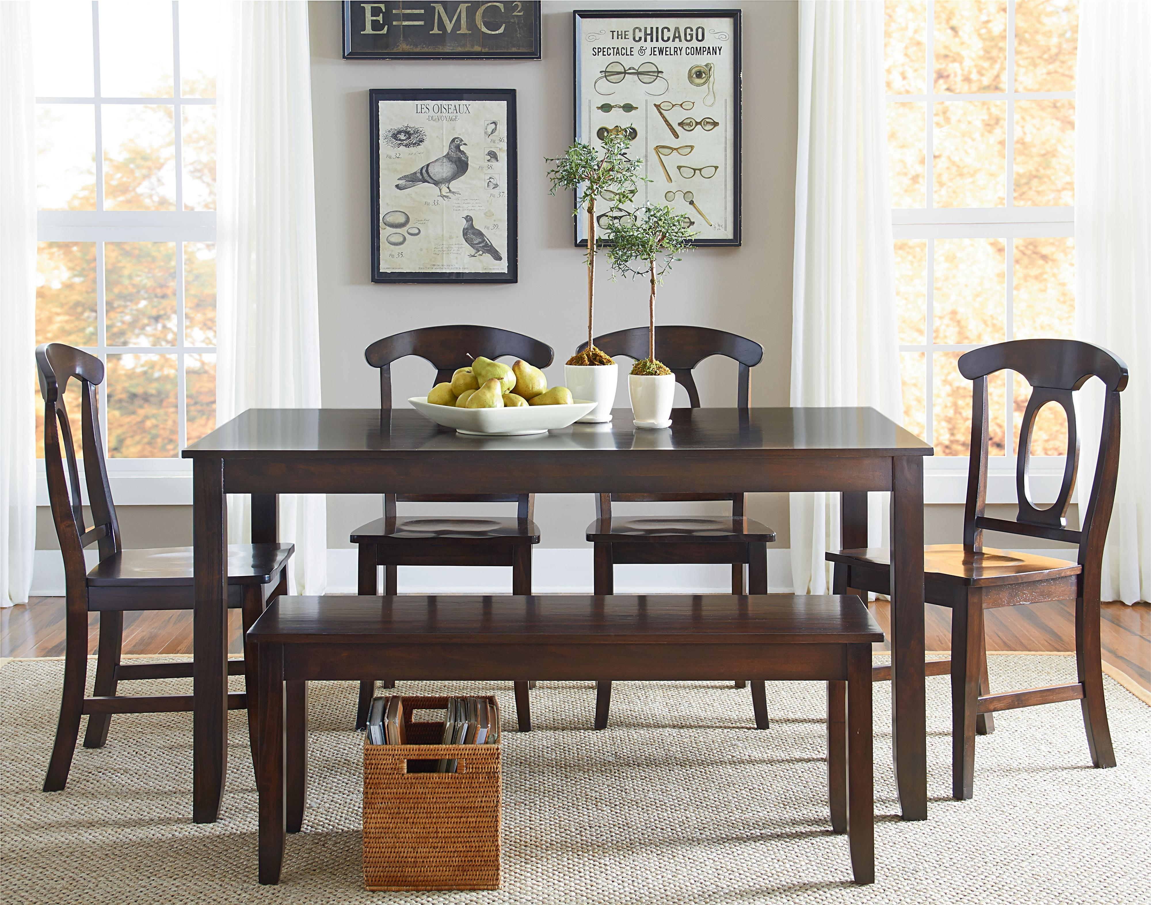 Standard Furniture Larkin 6 Piece Dining Table Set With Open Oval Inside Sofa Chairs With Dining Table (Image 10 of 10)