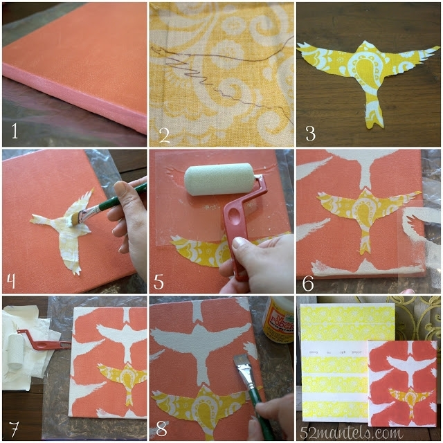Stenciled Wall Art {Hello Summer} – I Heart Nap Time For Mod Podge Fabric Wall Art (Image 12 of 15)