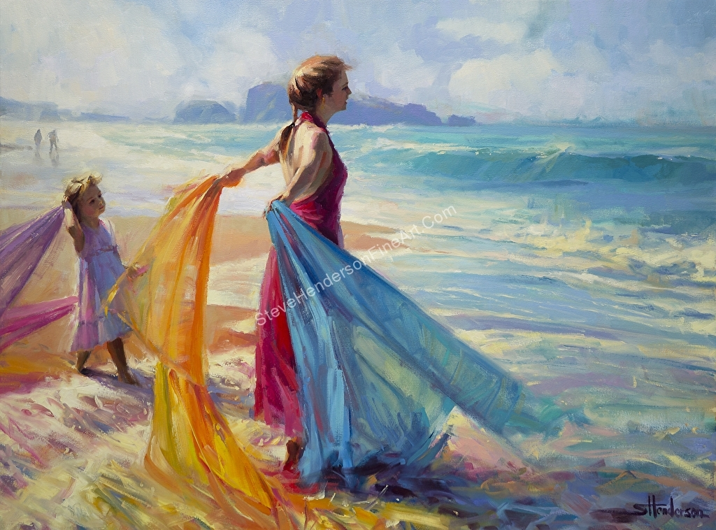 Steve Henderson – Work Zoom: Into The Surf — Wall Art Decor At Throughout Canvas Wall Art At Wayfair (Image 9 of 15)