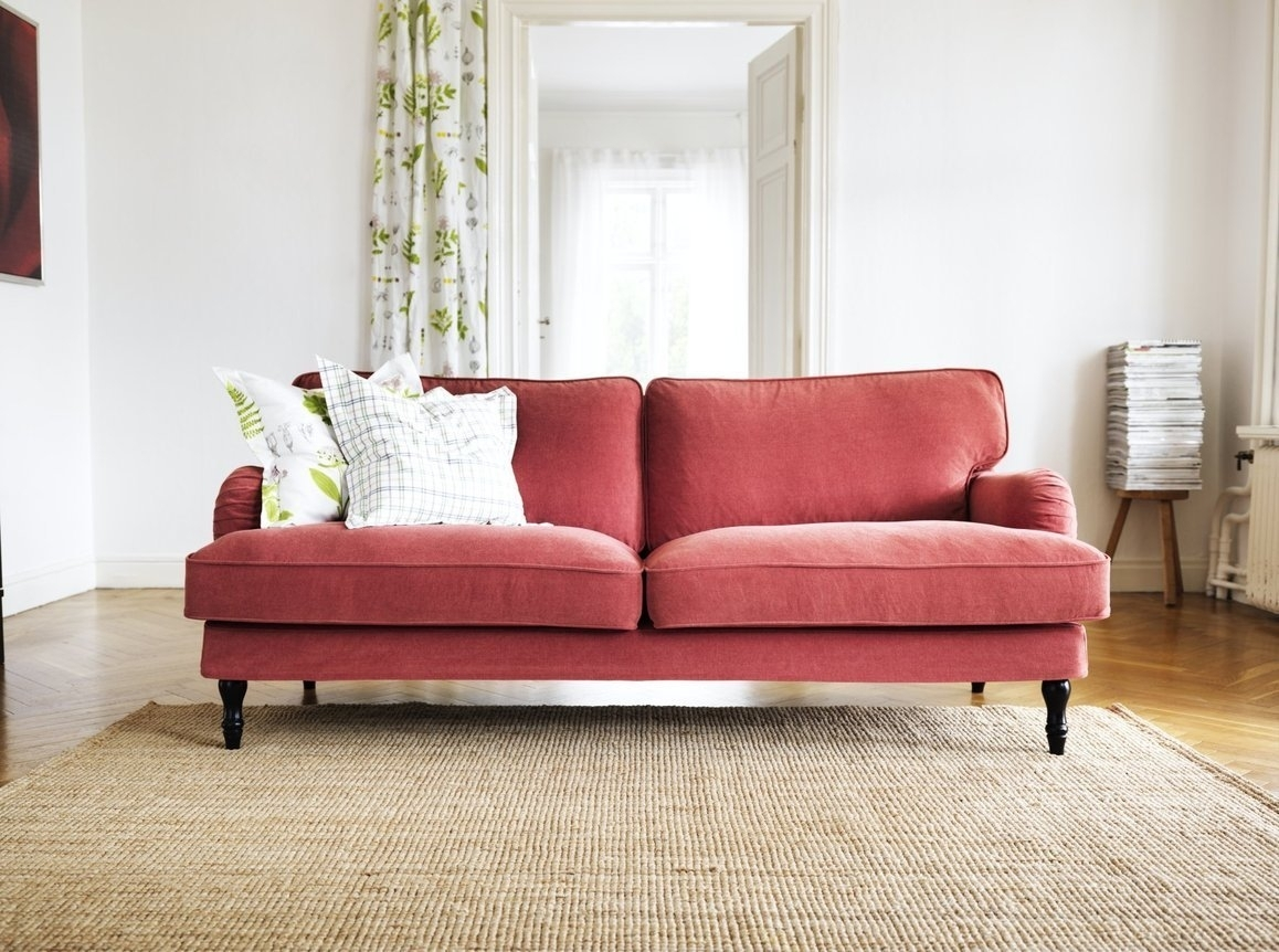 Stocksund Sofa | Red Fabric, Arms And Traditional Intended For Apartment Sofas (View 5 of 10)