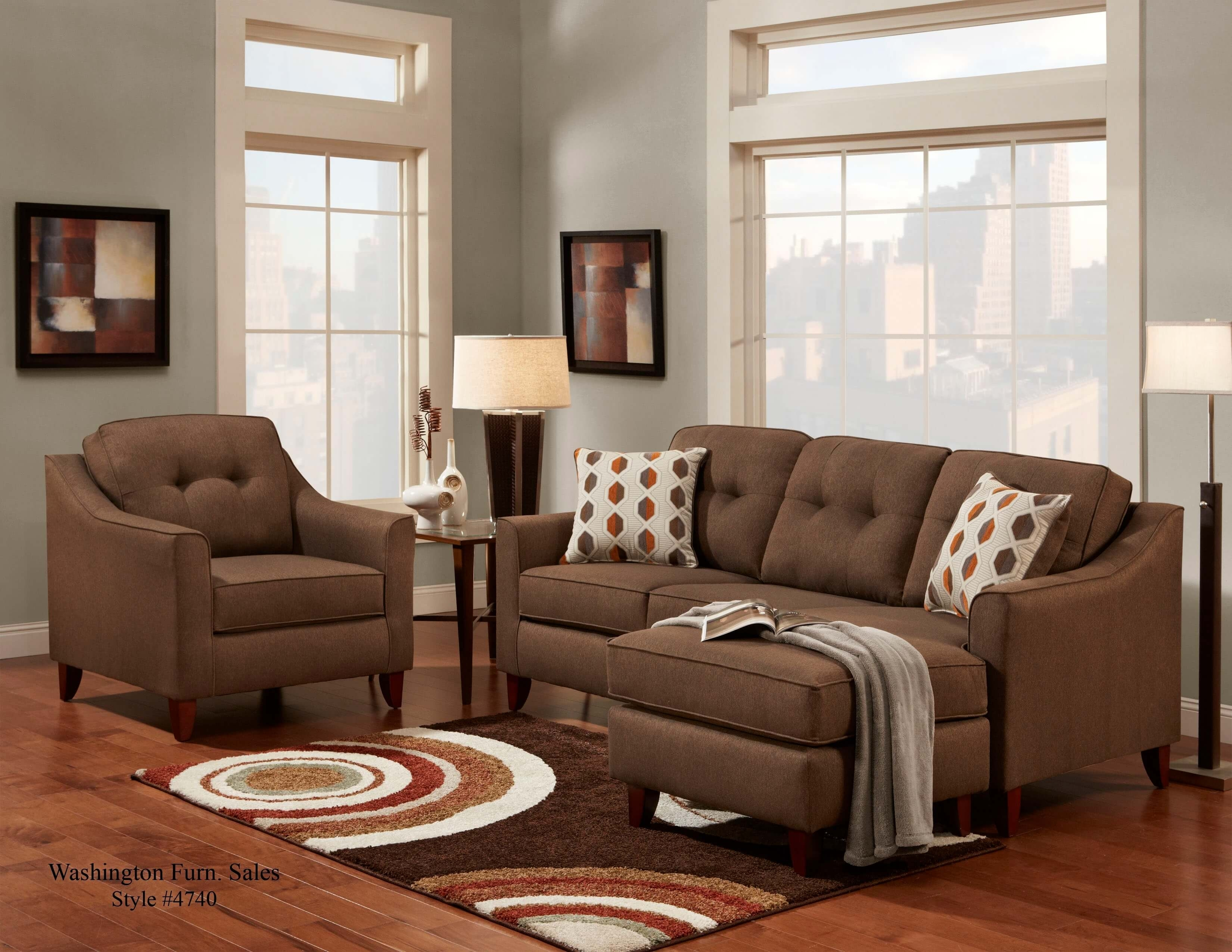 Stoked Chocolate Sofa/chaise | Sectional Sofa Sets With Chocolate Sectional Sofas (View 4 of 10)