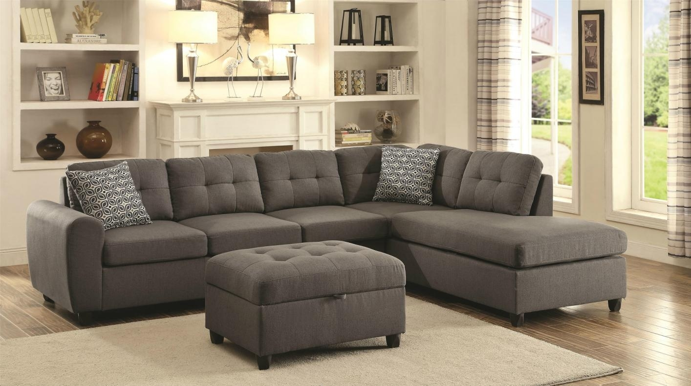 Stonenesse Grey Fabric Sectional Sofa – Steal A Sofa Furniture Pertaining To Fabric Sectional Sofas (View 2 of 10)