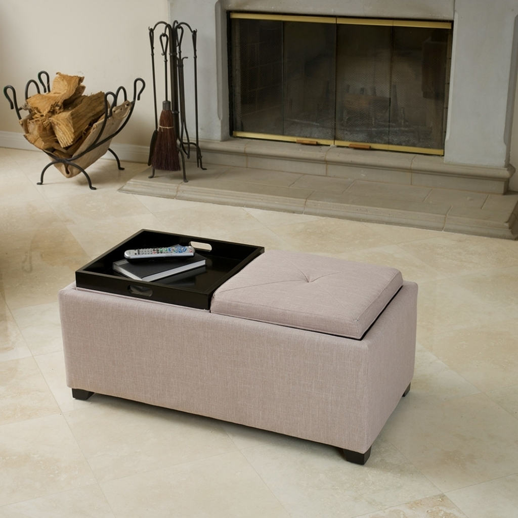 Storage Ottoman With Tray Living Room Contemporary With 2 Tray Top For Ottomans With Tray (Image 8 of 10)