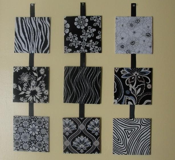 Stretch Fabric For Wall Art | Stretch Fabrics For Black And White Fabric Wall Art (View 4 of 15)