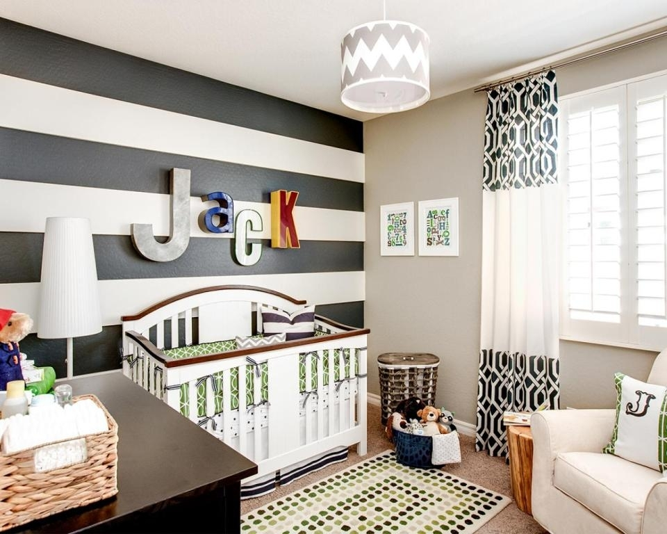 Striped Accent Wall In Nursery — Tedx Designs : The Awesome Of Within Stripe Wall Accents (Image 10 of 15)