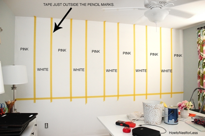 Striped Craft Room Walls – How To Nest For Less™ Pertaining To Vertical Stripes Wall Accents (View 14 of 15)
