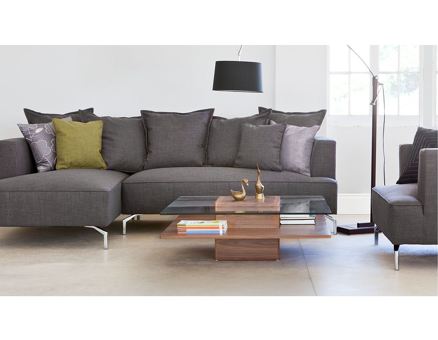 Structube – Lighting : Floor Lamps : Curva (Dark Brown) | Patti's For Structube Sectional Sofas (Image 5 of 10)
