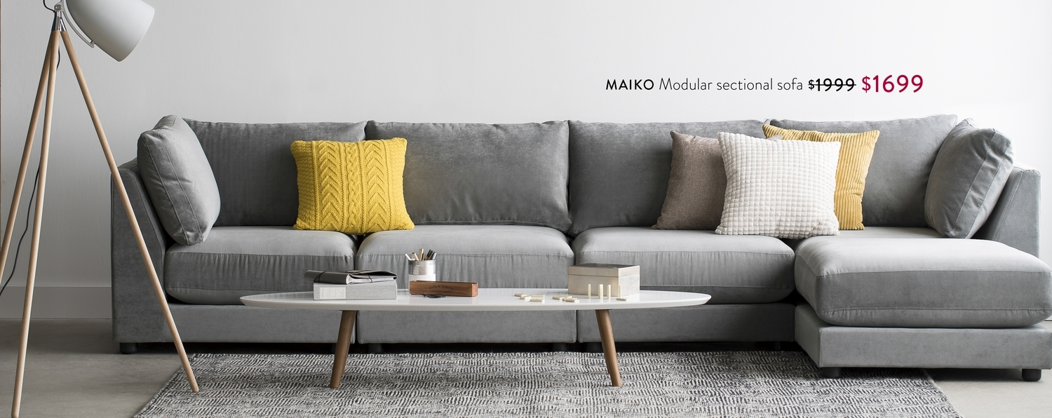 Structube – Maiko Modular Sectional Sofa $1999 $1699, Dylan Coffee With Regard To Structube Sectional Sofas (Image 7 of 10)