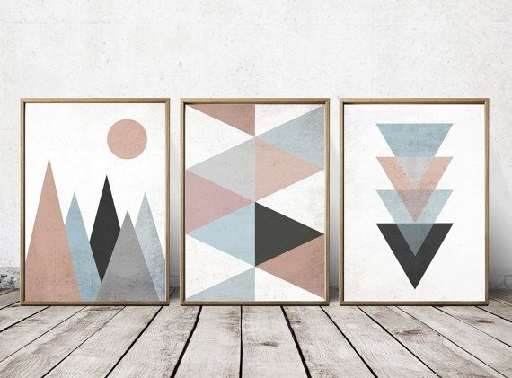Stunning Ideas Geometric Wall Art Together With Best 25 On Inside Geometric Fabric Wall Art (View 13 of 15)