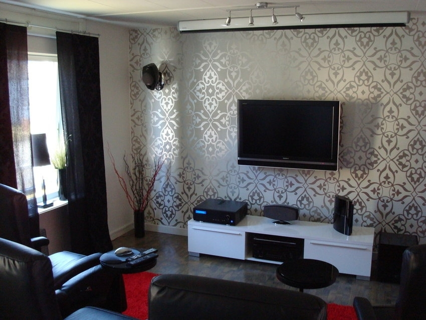 Stunning Living Room Accent Wall Ideas Wallpaper Accent Wall For Throughout Wallpaper Wall Accents (Image 7 of 15)