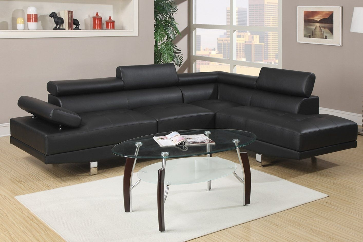 Stunning Sectional Sofa Design Black Leather With Best For And Darie Pertaining To Black Sectional Sofas (View 6 of 10)