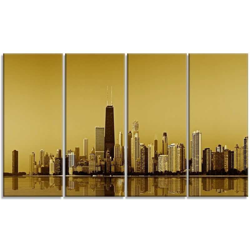 Stunning Wall Art Chicago Photos – Wall Art Design Inside Gold Coast Canvas Wall Art (Image 14 of 15)