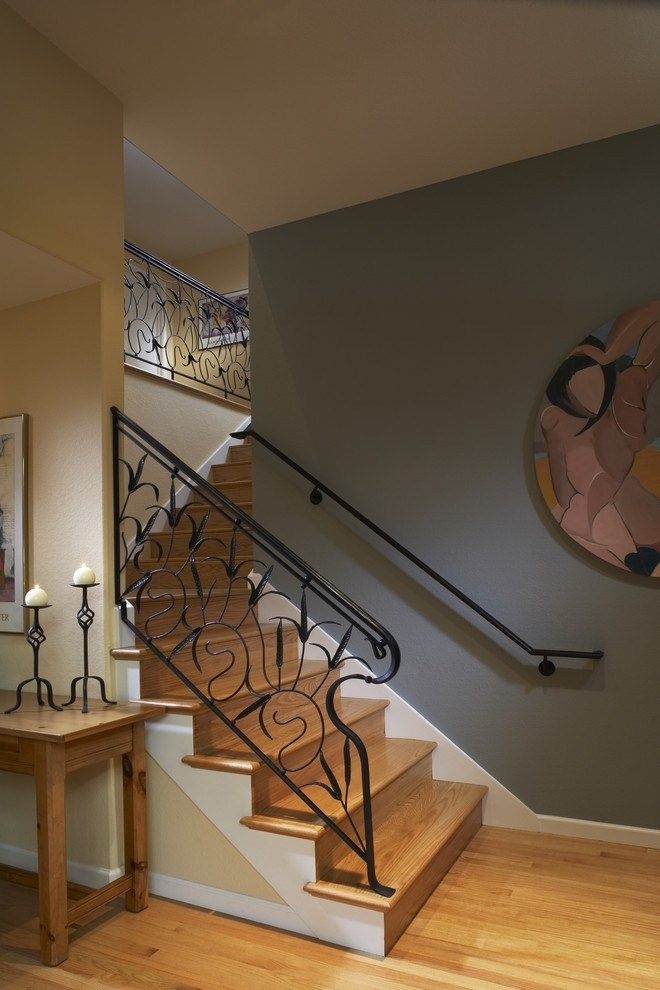 Stupendous Staircase Railing Decorating Ideas For Staircase Inside Staircase Wall Accents (Image 12 of 15)
