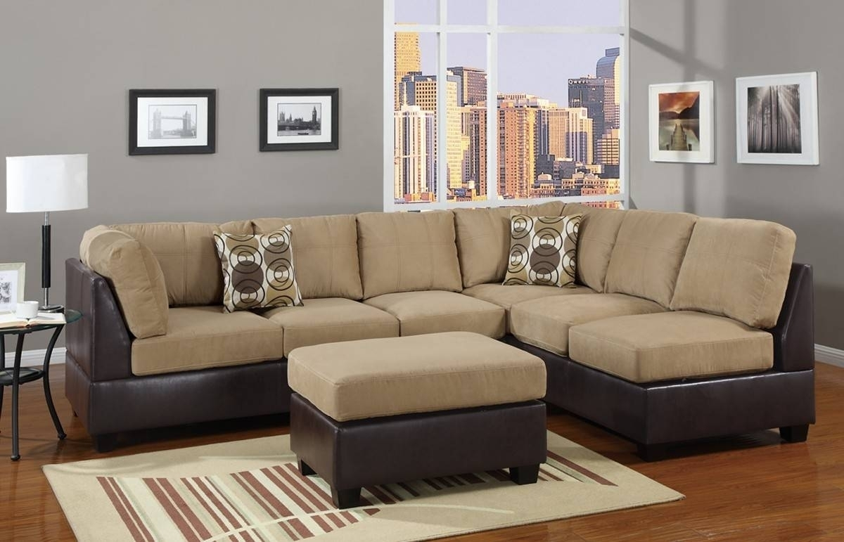 Stylish Leather And Suede Sectional Sofa – Mediasupload In Leather And Suede Sectional Sofas (View 2 of 10)