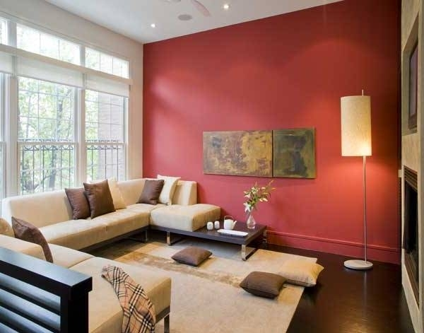 Stylish Paint Ideas For Living Room Walls Accent Wall Ideas For Within Wall Accents For Small Living Room (Image 11 of 15)