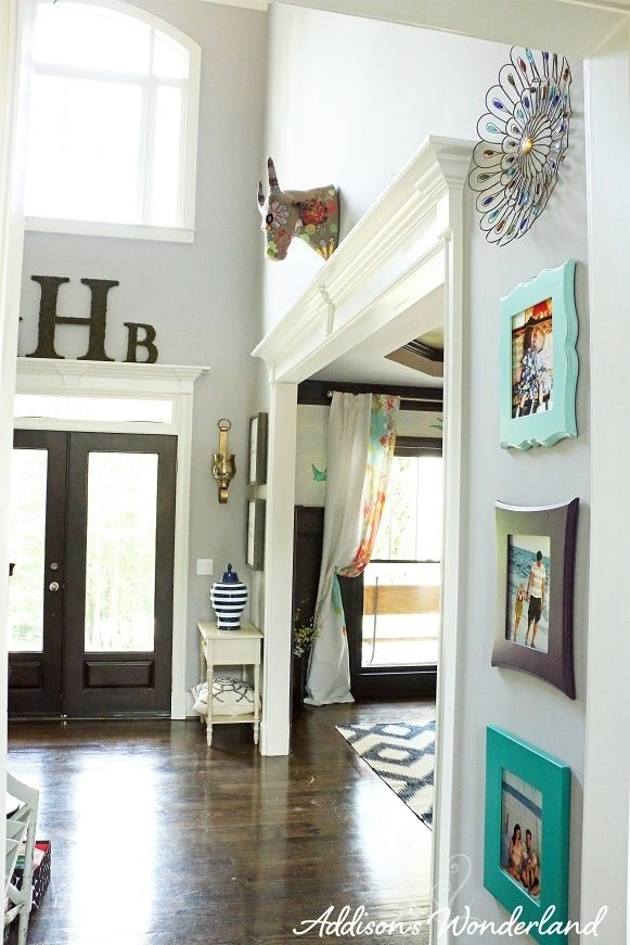 Summer Home Tour | Dark Hardwood, Foyers And Backdrops Throughout Entryway Wall Accents (View 7 of 15)