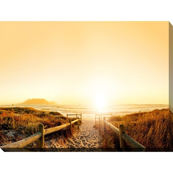 "Sunset In Cape Town, South Africa"" Giclee Print Canvas Wall Art Within Cape Town Canvas Wall Art (Image 14 of 15)"