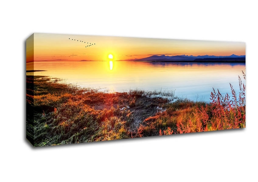 Sunset Panoramic Panel Canvas Artwallart Direct.co (Image 11 of 15)