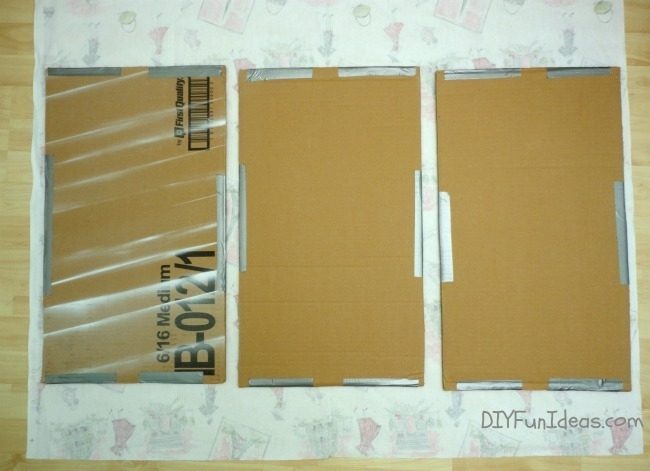 Super Easy Fabric Panel Diy Wall Art On A Budget – Do It Yourself For Diy Fabric Wall Art Panels (Image 9 of 15)