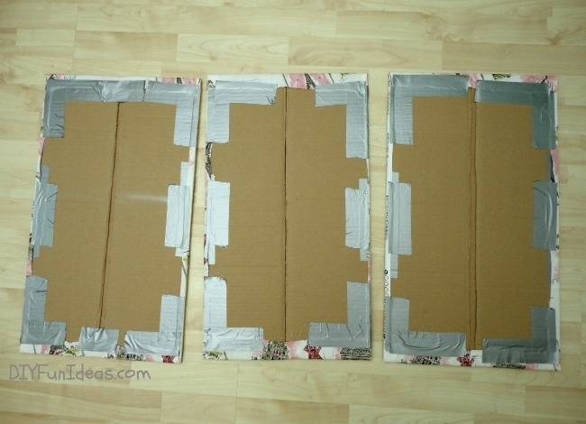 Super Easy Fabric Panel Diy Wall Art On A Budget – Do It Yourself Intended For Fabric Panels For Wall Art (Image 14 of 15)