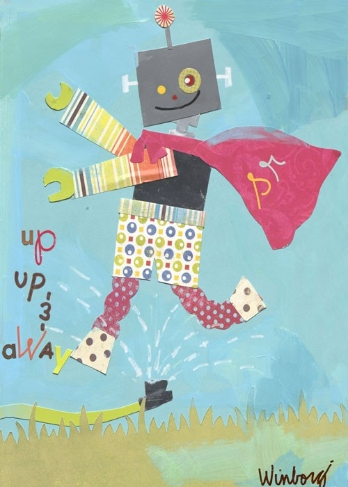 Superhero Robot Canvas Wall Artoopsy Daisy – Rosenberryrooms In Robot Canvas Wall Art (View 7 of 15)