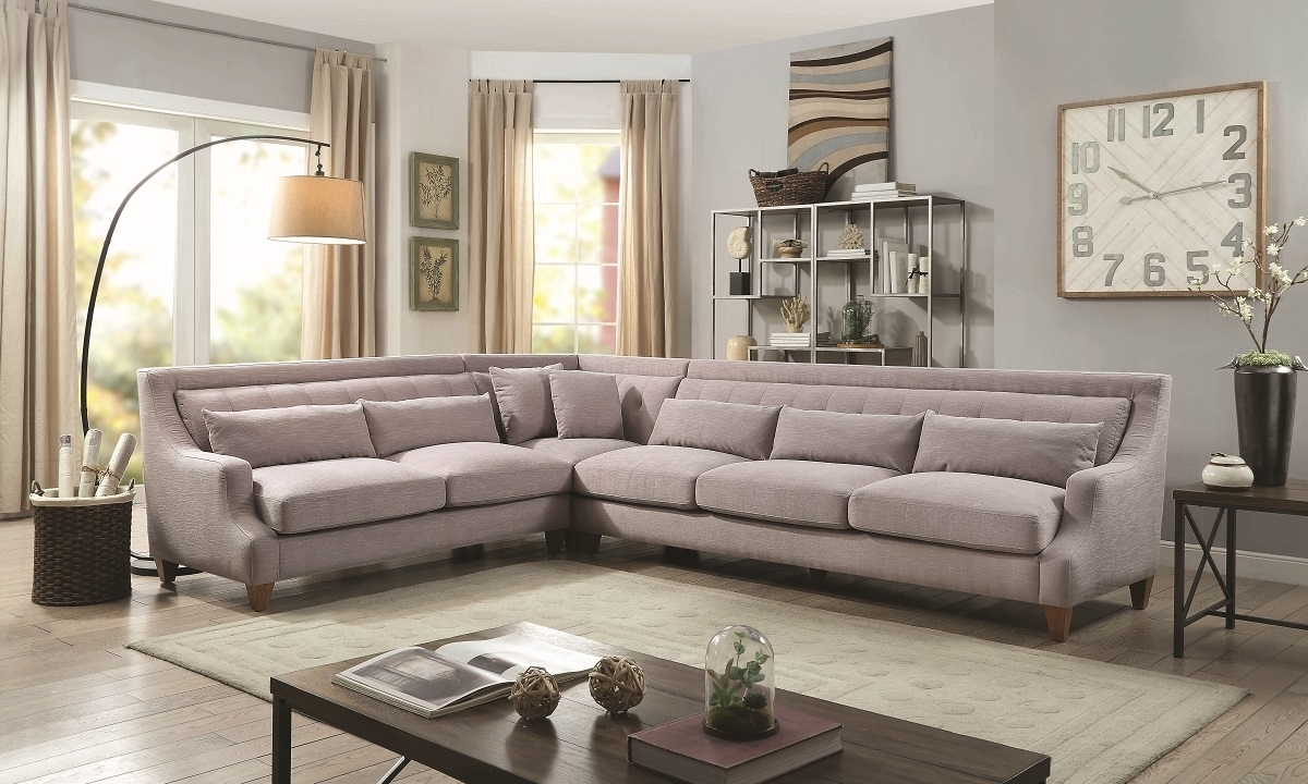 Sutton Place 3 Piece Grey Sectional | Haynes Furniture, Virginia's Inside Virginia Sectional Sofas (Image 9 of 10)