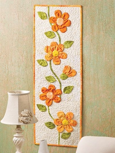 Sweet Wall Hangings With About Fabric On Pinterest Hanging Crafts In Handmade Fabric Wall Art (Image 15 of 15)