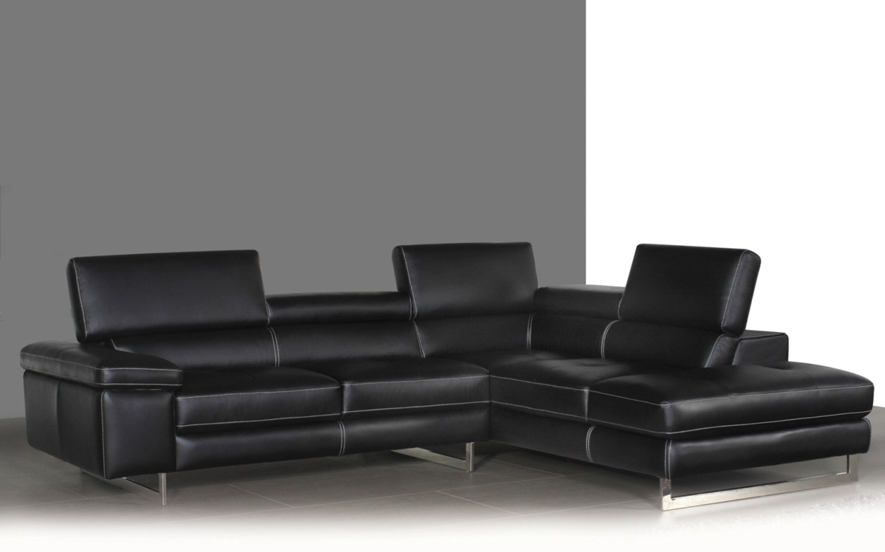 Syncro Leather Sectional Sofa – Titanium Grey | Buy Sectional Sofas With Regard To Vancouver Bc Canada Sectional Sofas (Image 9 of 10)
