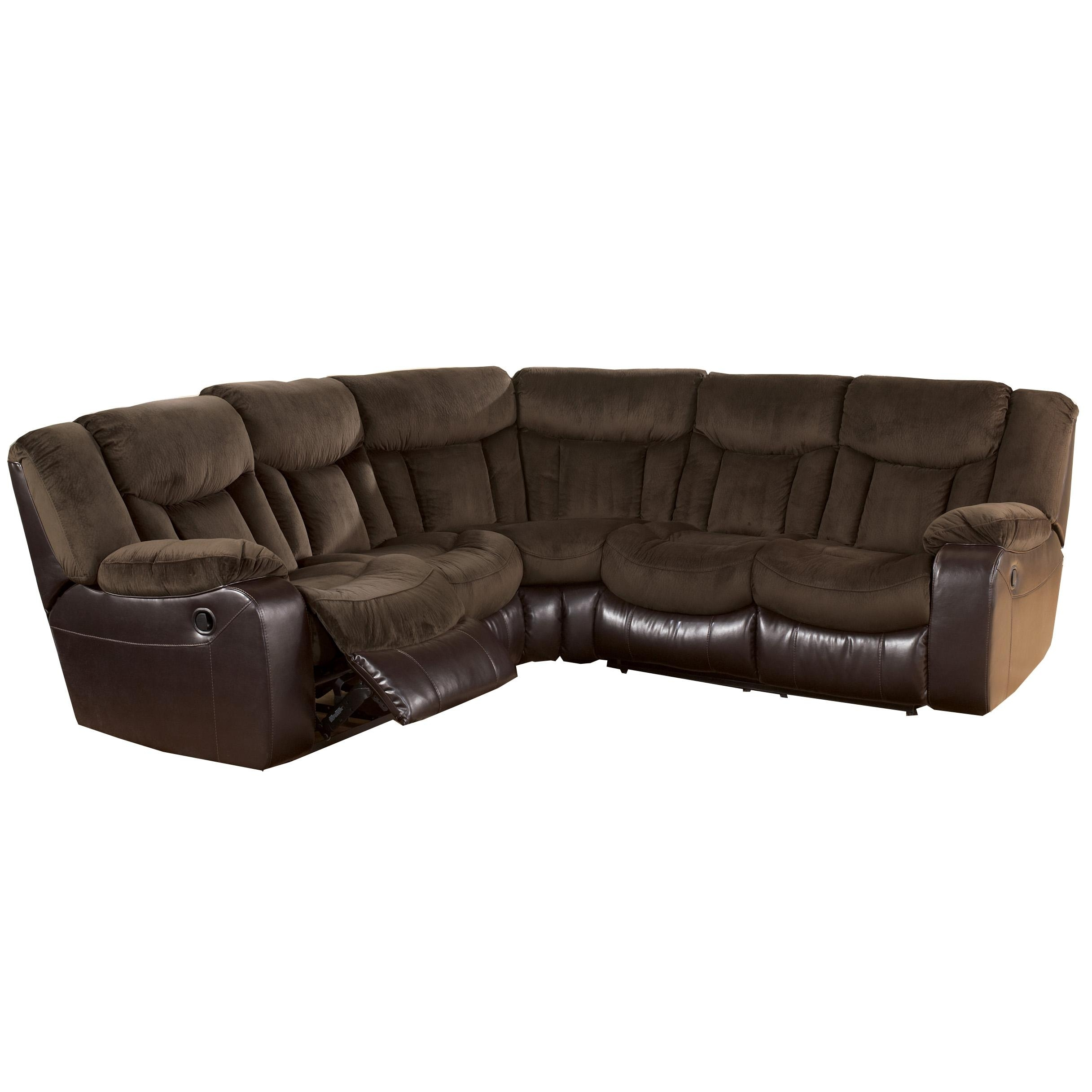 Tafton – Java Double Reclining Two Loveseat Sectionalsignature For Homemakers Sectional Sofas (View 10 of 10)