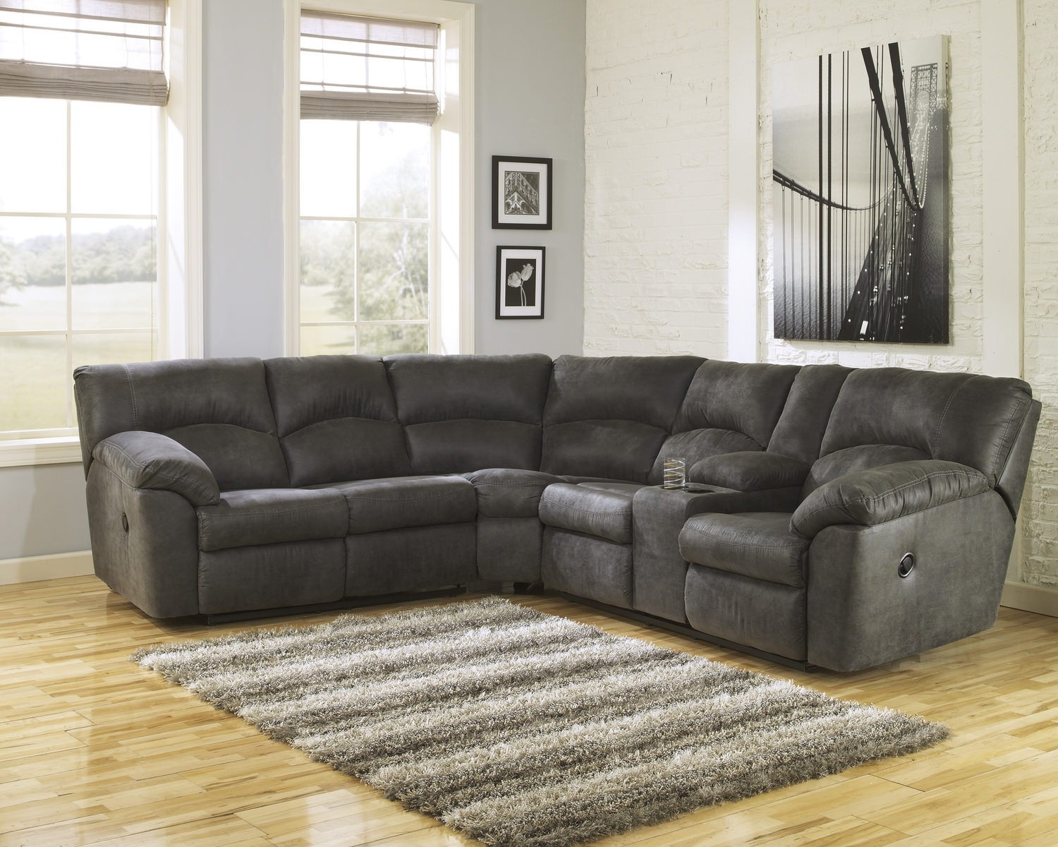 Tambo 2 Piece Reclining Sectional | Dock86 with regard to Dock 86 Sectional Sofas