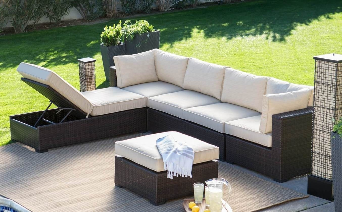 Tasty Wicker Outdoor Furniture Seven Hills Set On Lighting Charming Within Kansas City Sectional Sofas (Image 10 of 10)