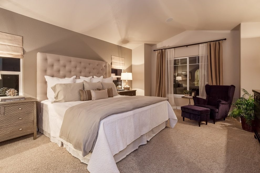 Taupe Accent Wall Bedroom Traditional With Neutral Colors Window For Neutral Color Wall Accents (View 5 of 15)