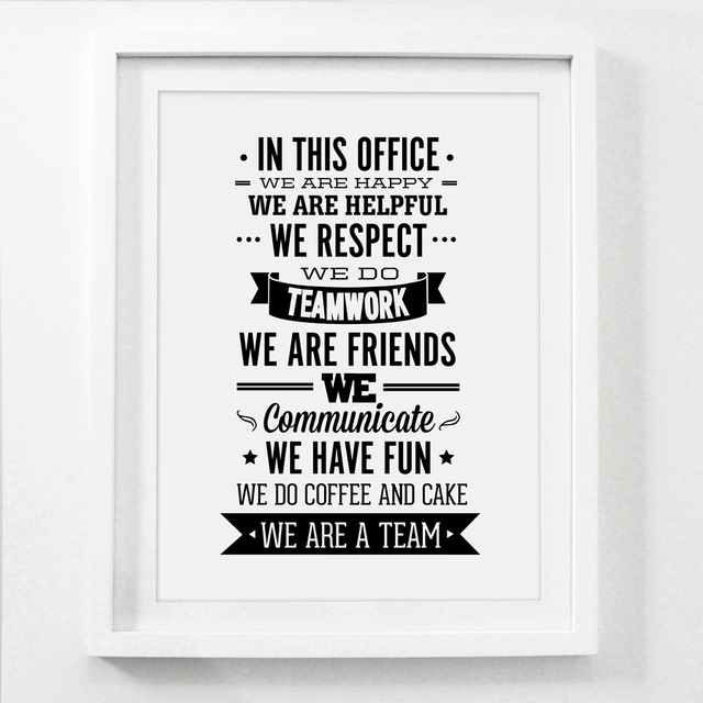 Team Office Rules Quote Canvas Painting Wall Art , Team Inspiring Inside Inspirational Quote Canvas Wall Art (View 7 of 15)