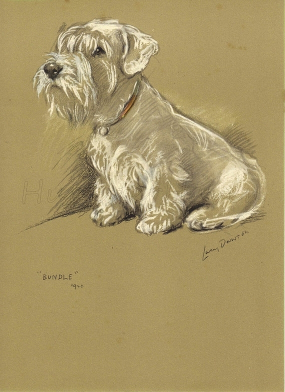Terrier – 1940S Vintage Dog Print, Wall Decor, Animal Print, Art Regarding Dog Art Framed Prints (Image 13 of 15)