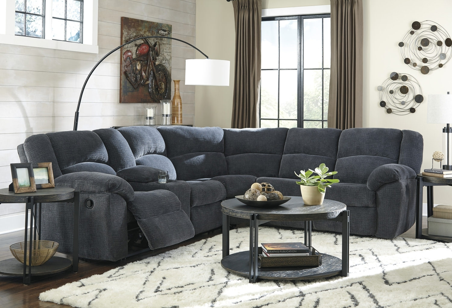 Texas 2 Piece Reclining Sectional | Hom Furniture With Regard To St Cloud Mn Sectional Sofas (View 7 of 10)