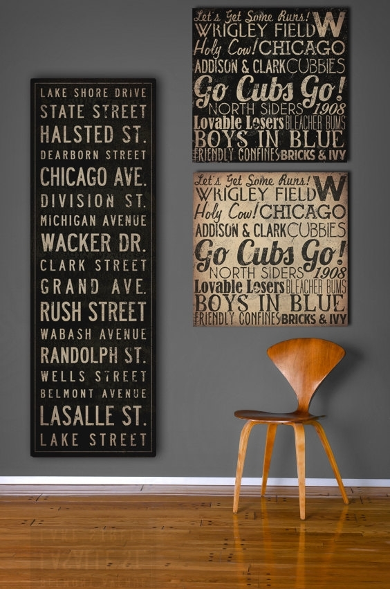 Text Quote City Sign Custom Personalized Vintage Style Bus Intended For Custom Quote Canvas Wall Art (View 3 of 15)