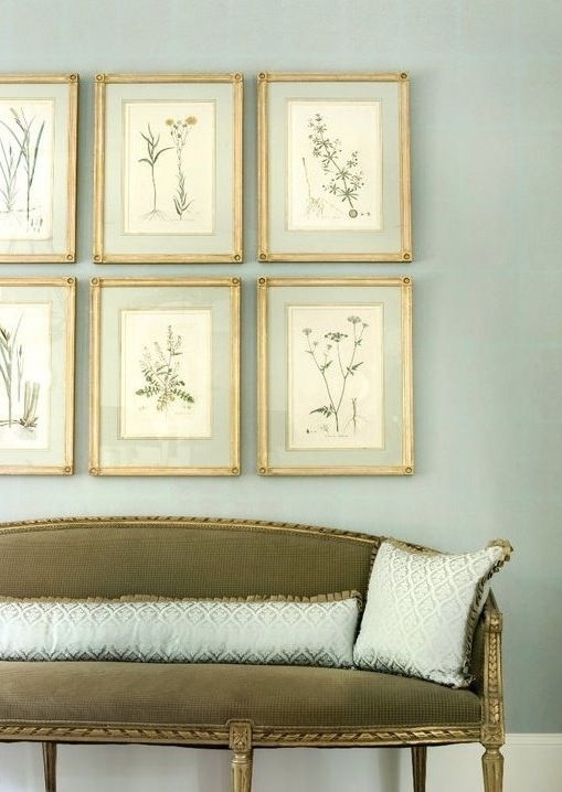 The Art Of French Matting With Antique Botanical Prints | Hadley Throughout Framed Botanical Art Prints (Image 12 of 15)