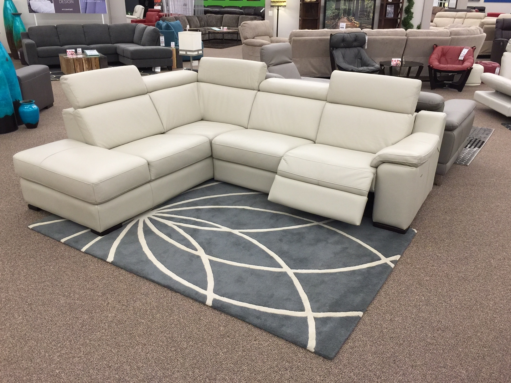 The Ashlynn Sectional Just Arrived At Sofa Land! This 100% Leather For Sectional Sofas In Stock (Image 8 of 10)
