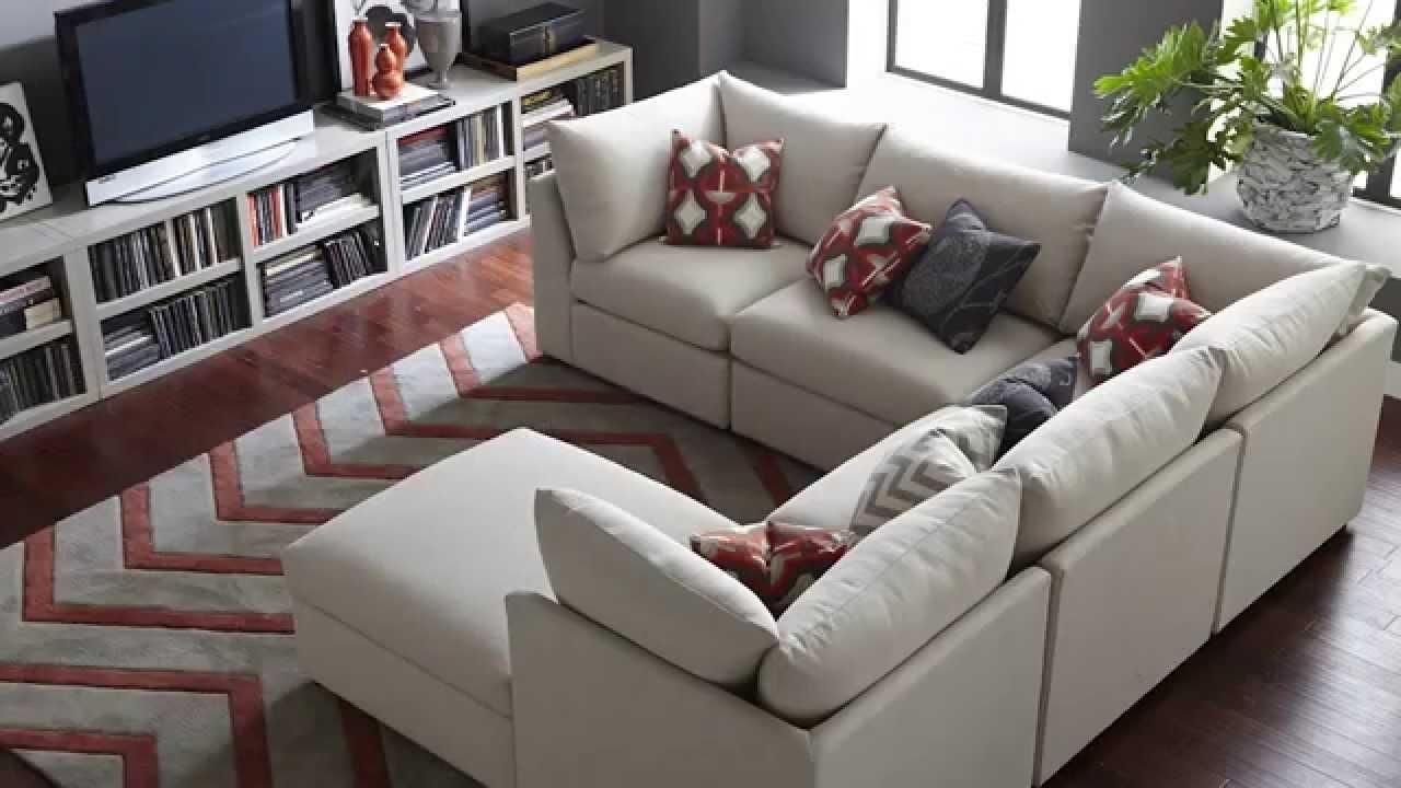 The Beckham Sectional Sofabassett Furniture – Youtube Regarding Sectional Sofas (Image 9 of 10)