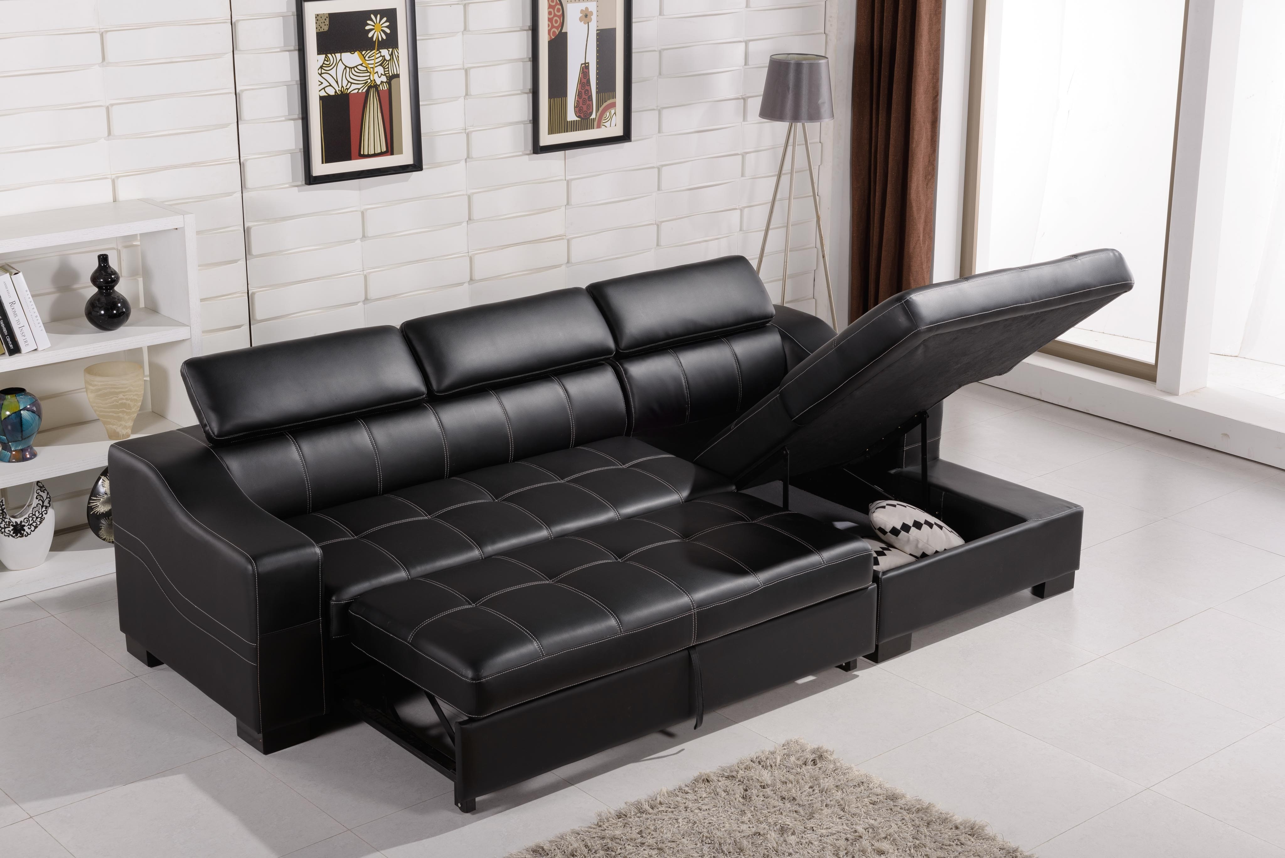 The Best Fashionable Design White Faux Leather Sectional Corner Of In Leather Sofas With Storage (Image 10 of 10)