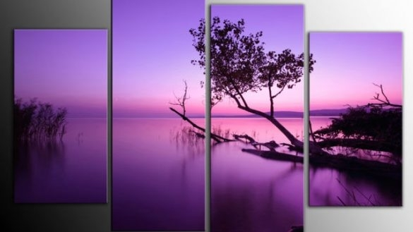 The Best Of Canvas Wall Art Rocky Mountain Set 5 | Home For Canvas Wall Art In Purple (View 4 of 15)