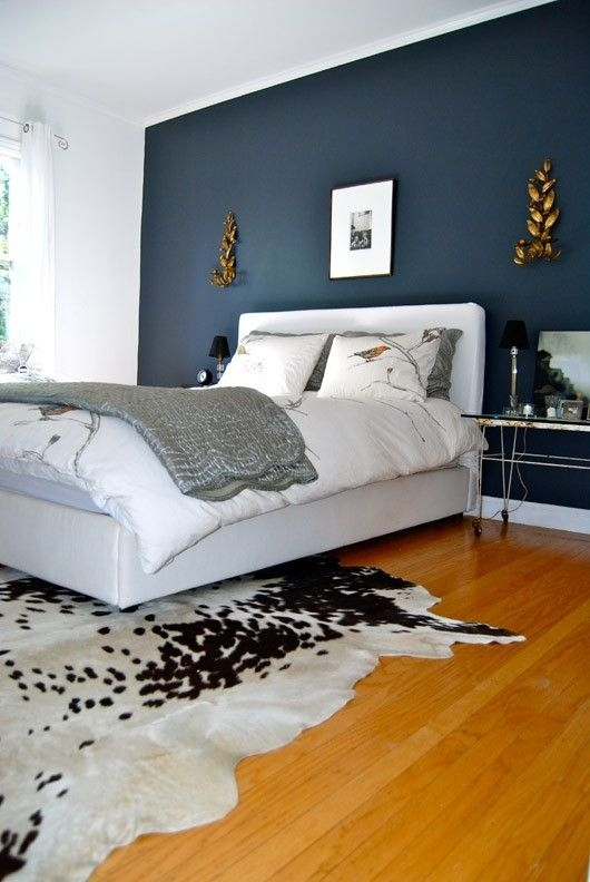 The Bold And The Beautiful: Feature Walls | Hague Blue, Midnight Pertaining To Navy Wall Accents (Image 14 of 15)