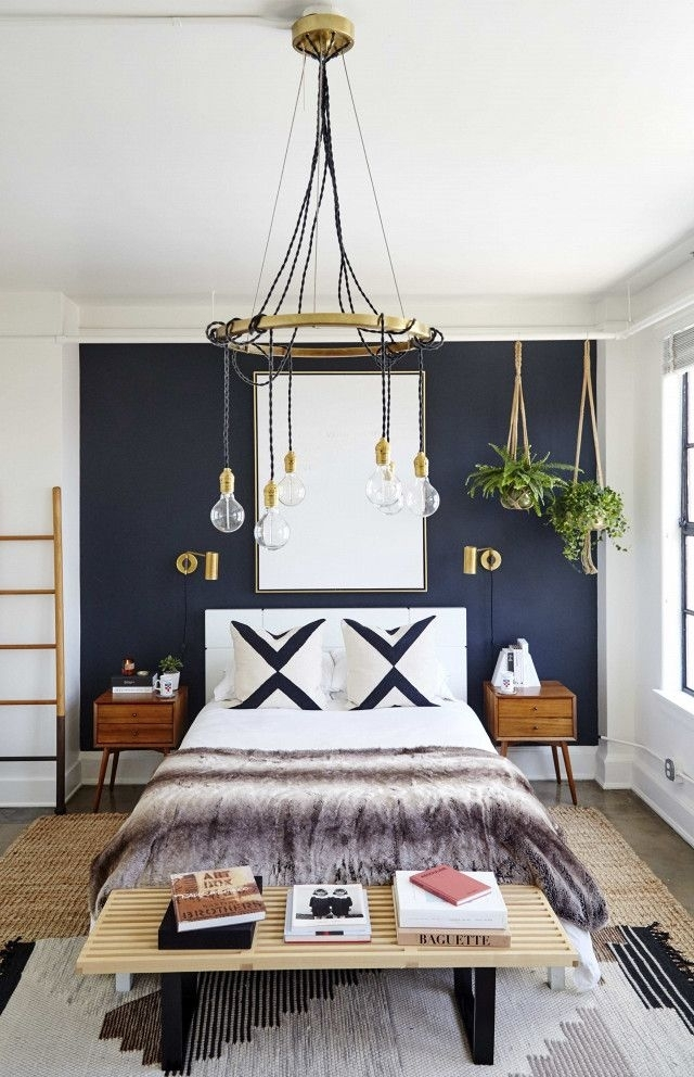 The Coolest It Girl Bedrooms We Want To Steal | Bedrooms, Goal And Regarding Wall Accents For Blue Room (View 15 of 15)