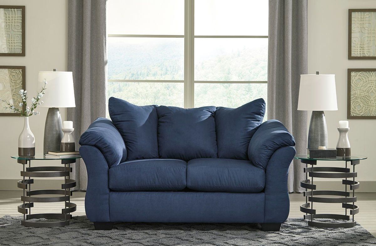 The Darcy Blue Loveseat Available At Furniture Connection Serving Regarding Clarksville Tn Sectional Sofas (View 2 of 10)