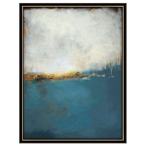 The Earth Original Art Canvas For Abstract Horizon Wall Art (View 4 of 15)